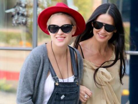 Algunos tendrán sus dudas, si las hijas de Demi se parecen a ella...