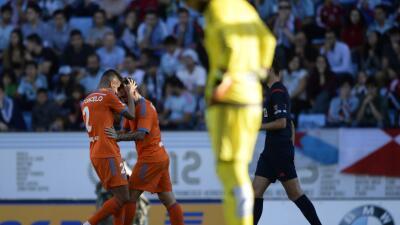 Paco Alcácer marcó un doblete al Celta