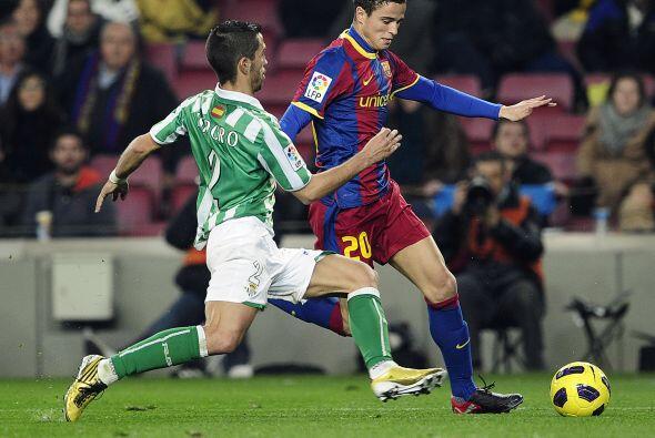 El holandés Ibrahim Afellay por fin debutó como 'blaugrana...