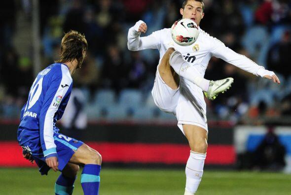 Cristiano Ronaldo no anduvo fino con el balón.