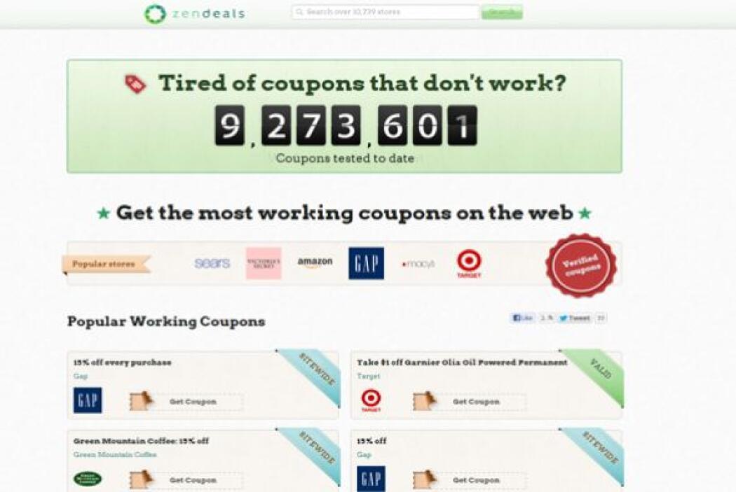 ZenDeals.com  Calificación de CR: Muy bueno para códigos promocionales....