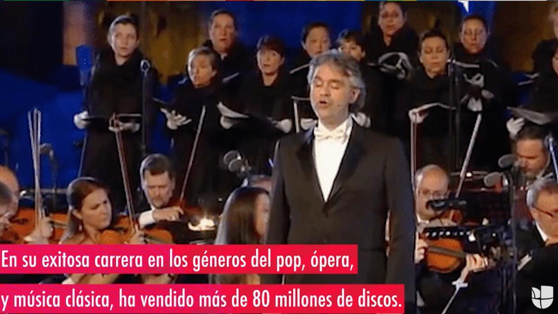 Andrea Bocelli sigue enamorando