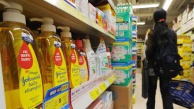 En la foto puede verse un producto para niños de Johnson and Johnson en...