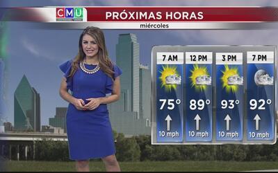 Siguen aumentando las temperaturas este miércoles en Dallas