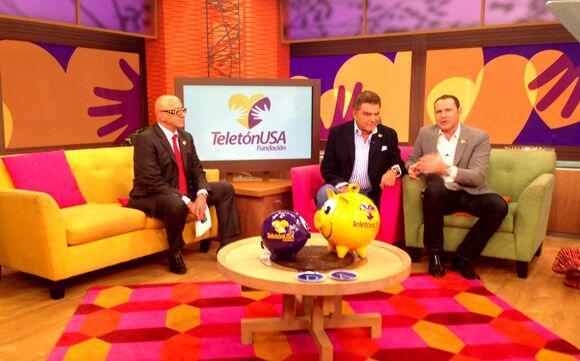 Alberto Ciurana, Presidente de Programación y Contenido de Univision, y...