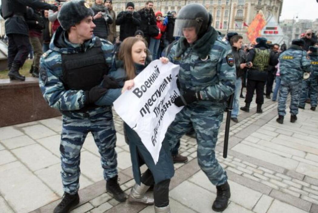 """El argumento de la policía rusa para las detenciones es que """"violaron el..."""