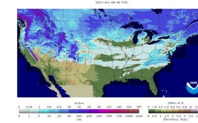 El invierno llega al sur de EEUU y ahora hay nieve en 49 de los 50 estados