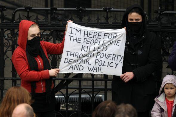 A algunas personas les molesta que Thatcher reciba un funeral tan fastuo...
