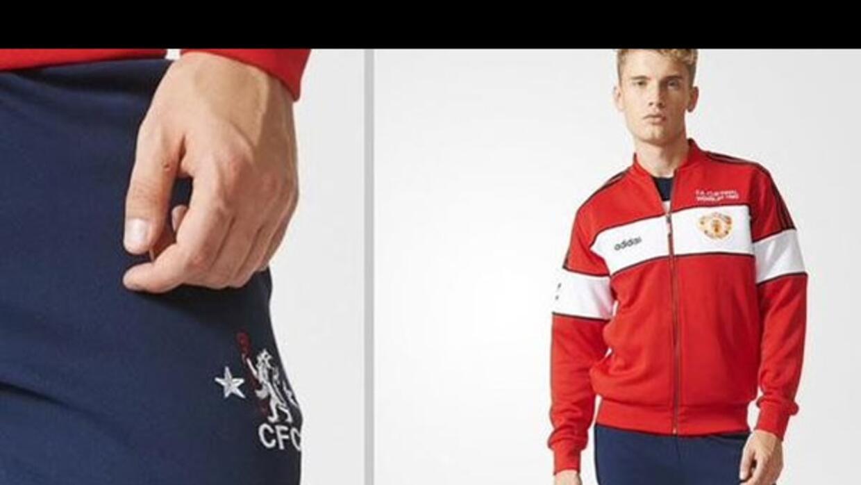Adidas mezcló los uniformes del United y los del Chelsea