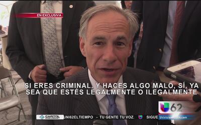 EXCLUSIVA: Gobernador Abbott habla a la comunidad latina sobre la ley SB4