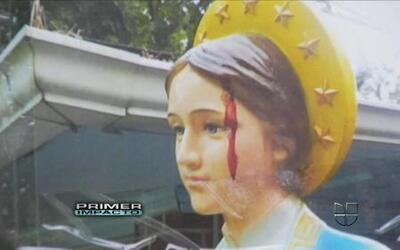 Sangre supuestamente emana de los ojos de una estatua de la Virgen María