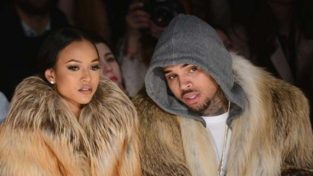 Karrueche y Chris Brown.