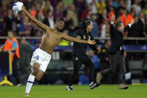Se escuchó el silbatazo final y el júbilo invadió al plantel del Inter.