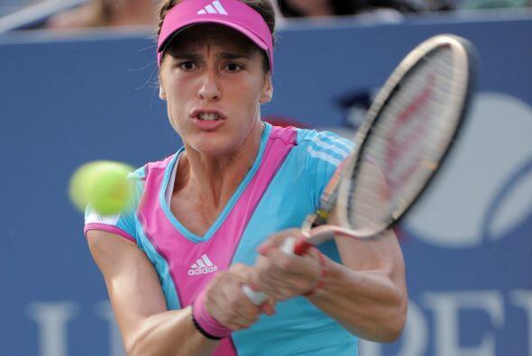La alemana Andrea Petkovic [10] venció a Carla Suárez Nava...