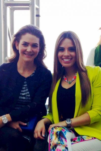 Con Adriana Castro.