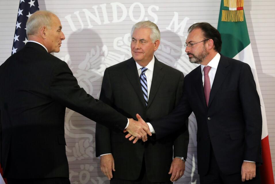 Kelly, Tillerson y Videgaray, México