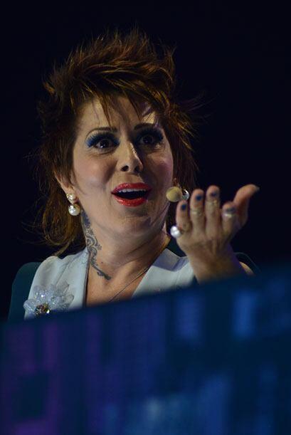 Alejandra también defendía su opinión de los musica...