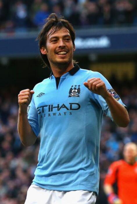 El segundo ibérico es el talentosísimo del Manchester City, David Silva.