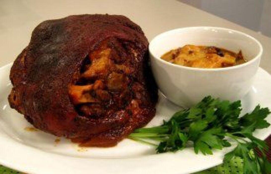Pernil de cerdo latino: Esta receta es perfecta para una fiesta con much...