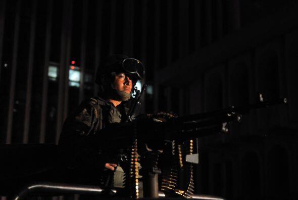 La seguridad fue tal, que autoridades de Guatemala, colocaron una tanque...