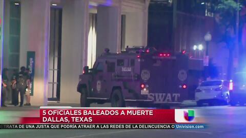 Cinco policías fueron asesinados y siete resultaron heridos en tiroteo p...