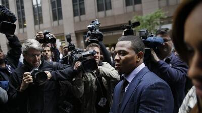 El ex Raven al concluir la audiencia por apelación (AP-NFL).