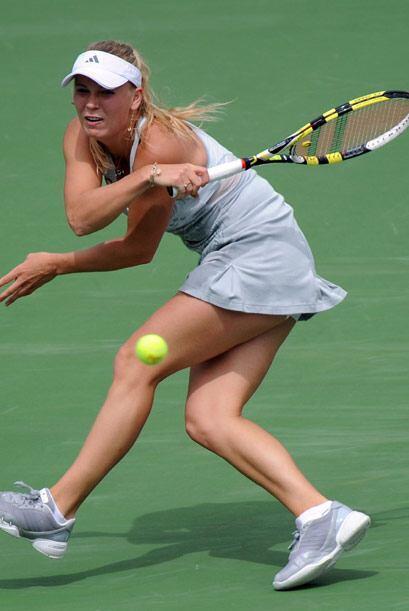 La danesa no pudo en la final con la fuerte jugadora serbia Jelena Janko...
