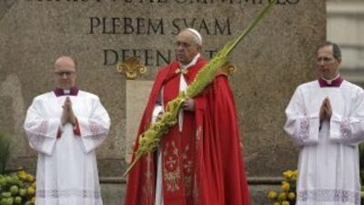 El papaFrancisco encabezó la celebración del Domingo de Ramos.