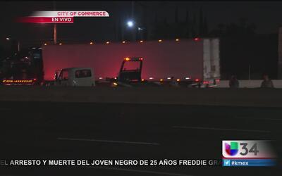Carrera clandestina provoca accidente en la Autopista 5
