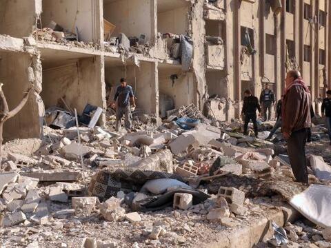 Al menos 24 personas, en su mayoría soldados del régimen s...