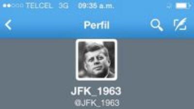 La cuenta del presidente de John F. Kennedy en Twitter.