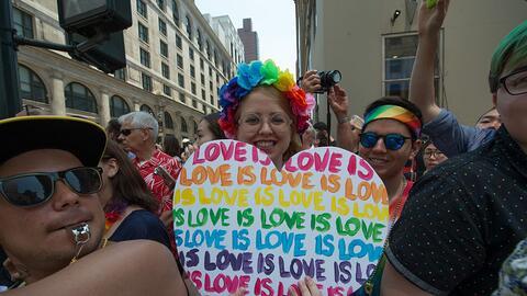 Desfile Gay por la tolerancia en honor de las víctimas de la masa...