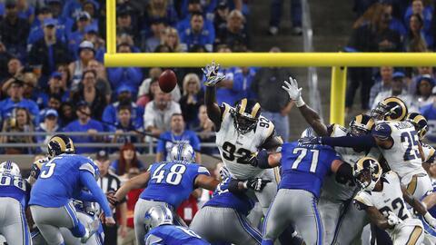 Con gol de campo de Prater, Lions consiguió la ventaja ante Rams