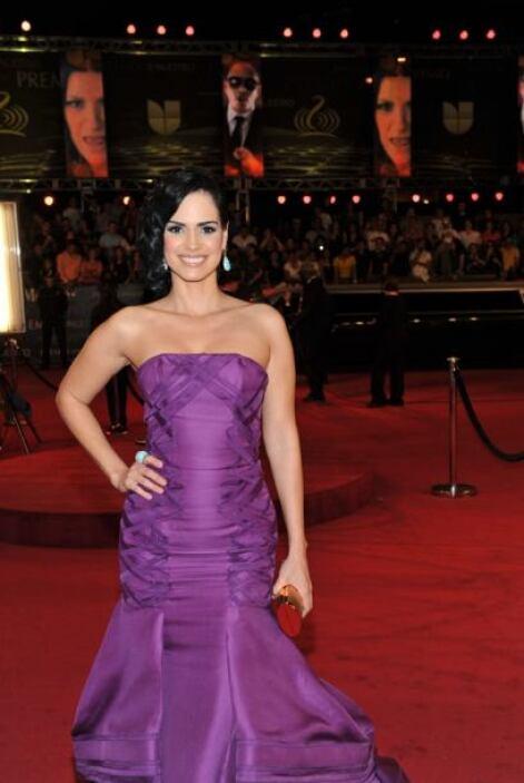 Su vestido 'strapless' fue un modelo de Rafael Cennamo.