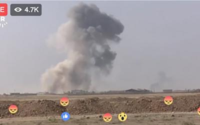 Una guerra en tiempo real, vía redes sociales y con emoticones incluidos.