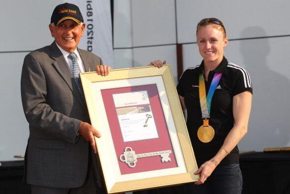 Gracias a su gran desempeño deportivo fue premiada con una de las Llaves...