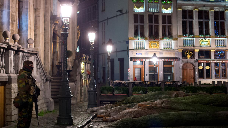 Calles de Bruselas lucen desoladas