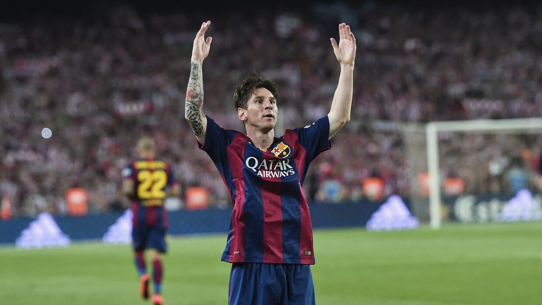 Messi fue la gran estrella de la final de la Copa del Rey.