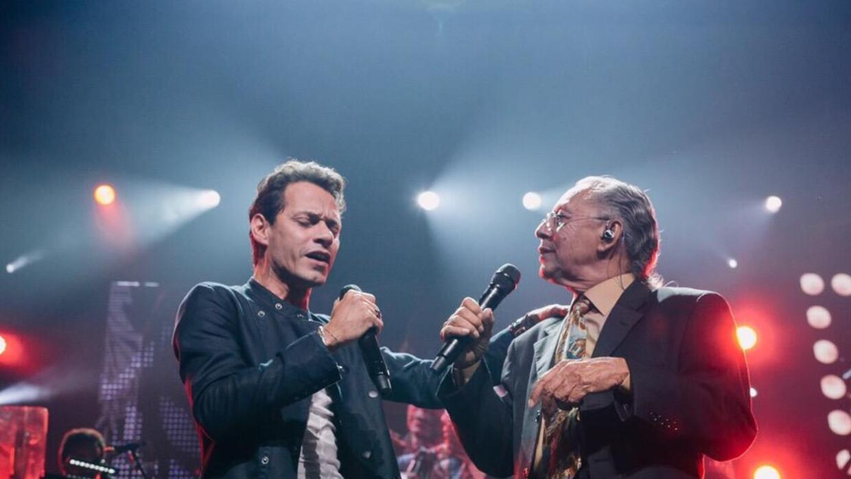 El papá de Marc Anthony subió a cantar junto a su hijo.