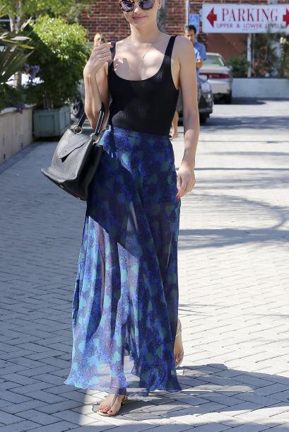 ¡Wow! Miranda Kerr es de las mejores vestidas esta semana, con ese look...