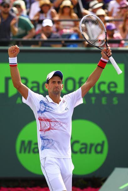 Djokovic aprovechó la falta de juego de Murray y se llevó el primer set.
