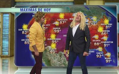 Ximena 'Gordoba' y 'El Sol' se apoderaron del segmento del 'weather'