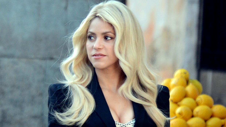 Shakira filma un comercial cerca de Barcelona.