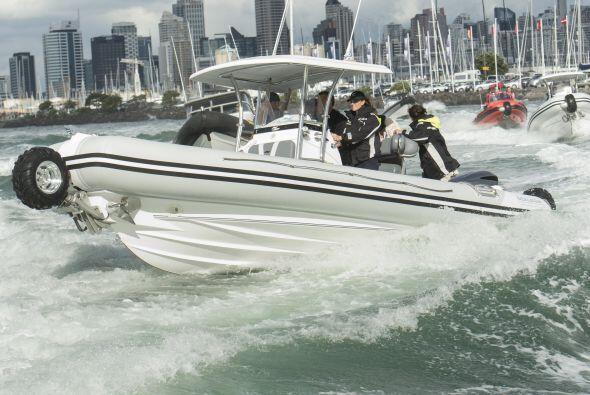 El duelo tuvo lugar en el golfo de Hauraki. Mira aquí los videos más chi...