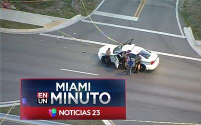 'Miami en un Minuto': muere una persona tras ser baleada en el noroeste...