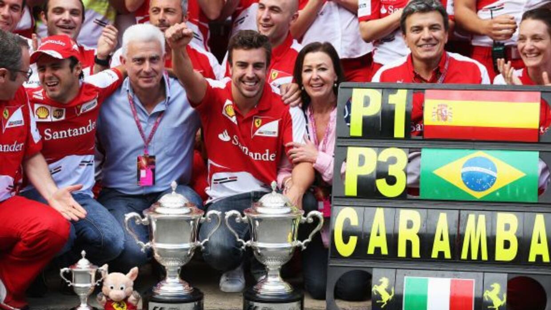 Alonso venció en Barcelona, Massa quedó en tercero.