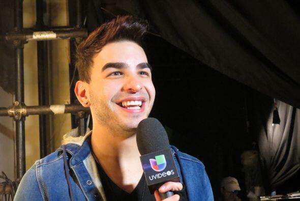Víctor durante los ensayos de la gala 10.
