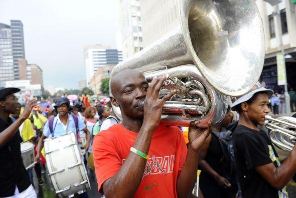 En Johannesburgo, Sudáfrica, la fiesta está lista para recibir al 2012.
