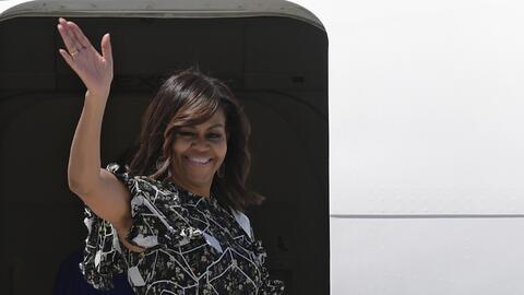 La Primera Dama estuvo dos días de visita en España