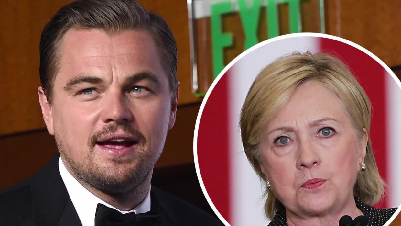 Leonardo DiCaprio se retracta de ser el anfitrión para Hillary Clinton